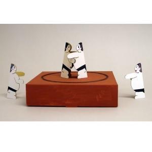ドスコイ紙相撲キットA(土俵1台+力士6体入、塗り絵を楽しめる無地商品です。)|sunrise-eternity