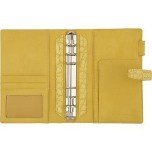 フランクリンプランナー システム手帳 フレンチクロコ バインダー コンパクトサイズ 20mm イエロー 63079|sunrise-eternity