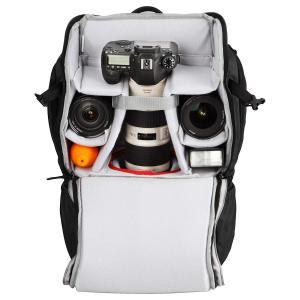 HAKUBA カメラリュック ルフトデザイン トレック20 上下2段の大容量カメラ収納部 21L ブ...
