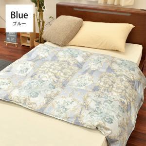 肌掛け布団 羽毛 ハーフサイズ ブルー ダウン70% 日本製 150×100cm ダウンケット 春の羽毛|sunrise-eternity