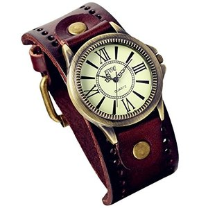 Lancardo 腕時計 女性 防水 レザーベルト ローマ 数学表示 レデイース アンティーク ウォッチ レトロ ファッション レデイース sunrise-eternity