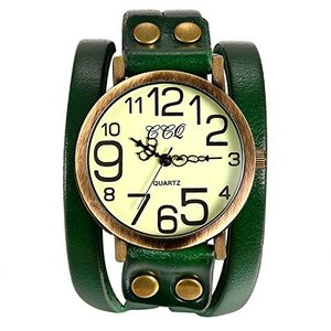 Lancardo 腕時計 レディース アンティーク ブレスレット 時計 メンズ 腕時計 シンプル 防水 レザーベルト アナログ表示 カジュア sunrise-eternity