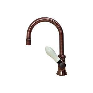 PIVOT(ピヴォ) スワン立水栓ブロンズ(レバーハンドル・アイボリー) デザイン蛇口 単水栓|sunrise-eternity