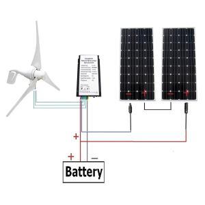 ECO-WORTHY 12V/24V 400 W風力発電+12V 160 Wソーラーパネル+コントローラーシステム|sunrise-eternity