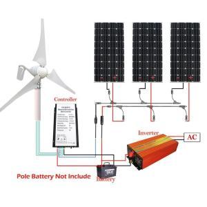 ECO-WORTHY 880W発電システム 12V/24V 風力発電機 400W+単結晶ソーラーパネル12V 160W*3個+MC4 コネク|sunrise-eternity