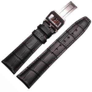 エイト腕時計ベルト 21mm ブラックxシルバー レザー ELB075A 並行輸入品 sunrise-eternity