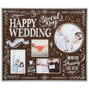 ラドンナ ブライダルフレーム BJ22 happywedding チェキ ミニ ポストカード ブラウン|sunrise-eternity