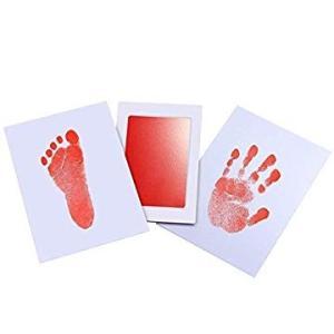 赤ちゃん 手形 足形キット インクタッチなし ベビーフレーム記念品 手足型 出産祝い 男女通用 新生...