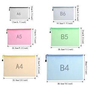 Atpwonz ジッパー式ファイル袋 6サイズ 6色 12枚 ファスナーフォルダー オフィス用品 旅行収納 (A6 A5 A4 B4 B5|sunrise-eternity