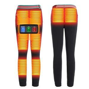 電熱パンツ 2020最新版ヒーターパンツ 防寒 保温 電熱ズボン 8つヒーター内蔵 電熱服 お腹*2・腰*2・膝*2・脛*2 USB給電 3 sunrise-eternity