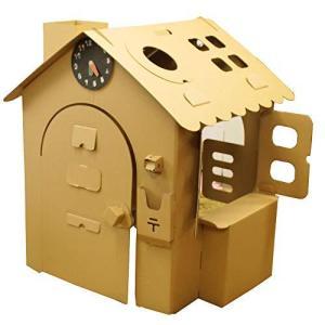 HOWAY オンリーハウスシリーズ (オンリーハウス茶) ダンボール製 針が回せる時計玩具付|sunrise-eternity