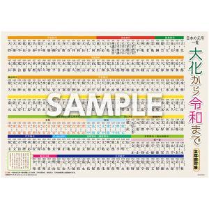 お風呂ポスター「大化から令和 (れいわ) まで 日本の元号一覧」 年号 歴史 社会 A3サイズ|sunrise-gogo