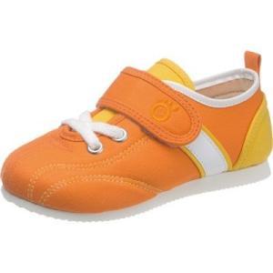 セール キッズ スニーカー 3E アサヒ健康くん P037 オレンジ sunrise-shoes