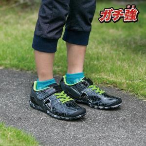 ジュニア スニーカー 破れにくい 丈夫な靴 ガチ強 アサヒ J031 ブラック|sunrise-shoes