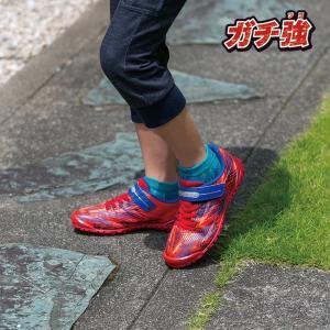 ジュニア スニーカー 破れにくい 丈夫な靴 ガチ強 アサヒ J032 レッド|sunrise-shoes