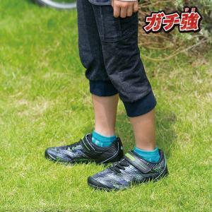 ジュニア スニーカー 破れにくい 丈夫な靴 ガチ強 アサヒ J032 ブラック|sunrise-shoes