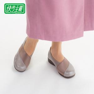 レディース スニーカー 軽い 脱ぎ履き簡単 快歩主義 L158 シャンパン sunrise-shoes