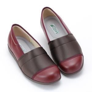 レディース スニーカー 軽い 脱ぎ履き簡単 快歩主義 L159 ワイン sunrise-shoes
