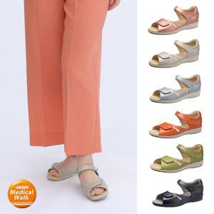 レディース サンダル 3E アサヒメディカルウォーク SL|sunrise-shoes