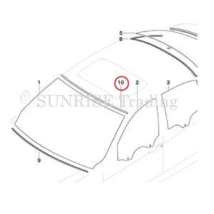 BMW E90/E91 F ウィンドウアッパーモール 純正|sunrise-trading|02
