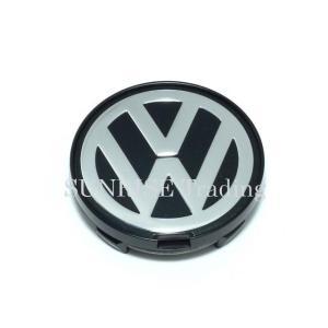 VW アルミホイールセンターキャップ クローム/ブラック 純正