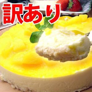 わけあり 訳あり マンゴーレアチーズケーキ(パーティー テレビで話題 規格外 業務用 旬 限定 不揃い フルーツ