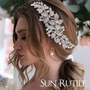 ウエディング ヘッドドレス  ラインストーン ヘッドピース ヘアアクセサリー 髪飾り 安い かわいい