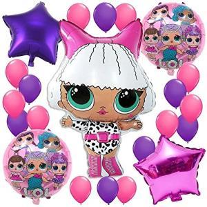 誕生日パーティー 飾り セット Lolサプライズ 人形 女 バルーン 風船 ゲーム 面白い 誕生日 ベビ