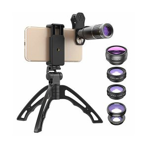 6イン1スマホ望遠鏡 望遠レンズONTWIE 16倍高性能単眼鏡ズーム クリップ式カメラレンズ (全...