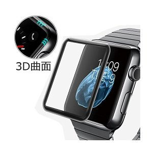 [LivelyLife]Apple Watch Series 3 ガラスフィルム 全面保護 曲面までカバー Apple Watch Series 3