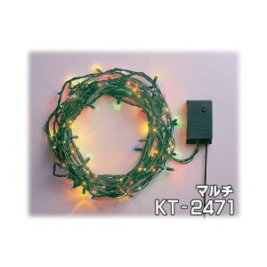 クリスマス スーパーミニNEW92球マルチ ストレートライトKT-2471|sunsetcandle