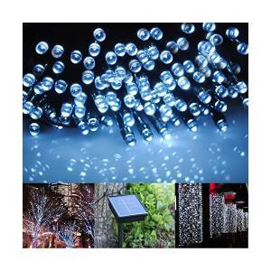CVLIFE クリスマスイルミ&ソーラー&太陽発電(発光モードは2パターン)(10m 100球)(ホワイト)自動的にON/OFFー充電式LEDイルミ|sunsetcandle