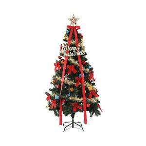 クリスマスツリー セット 8種類のオーナメント付き LED ...