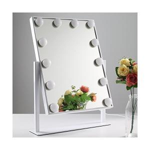 Chende LED化粧鏡 ハリウッドスタイル ライト付きの大型女優ミラー 調光機能 ドレッサー (ホワイト) sunsetcandle