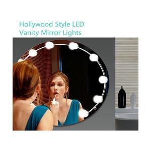 LINFON ハリウッドミラーライト10個LED電球 階段調光 女優ミラーライト メイクアップ 洗面台 化粧台 ドレッサー浴室 DC電源供給 LED sunsetcandle