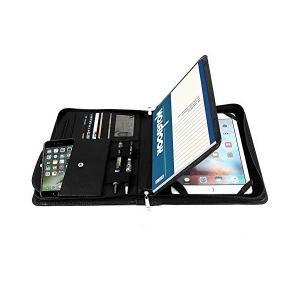 Yiwen 高級ビジネス 牛革 A5サイズ オーガナイザー 多機能書類フォルダーipad pro 9.7/ipad Air2/ipad Air用 ケ|sunsetcandle