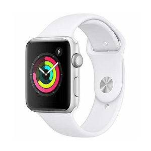 【国内正規品】Apple Watch Series 3 シルバーアルミニウムケースとホワイトスポーツ...