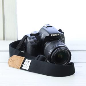 ミーナ 一眼レフ用 ミラーレス一眼用 帆布カメラストラップ 調節タイプ 幅3.5cm (ブラック)
