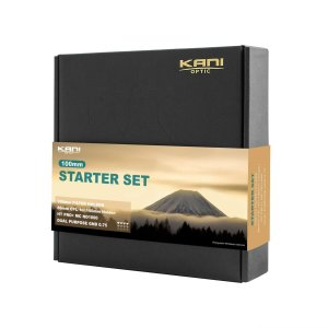 【KANI】100mm 角型フィルター スターターセット (100mm ホルダー、86mm CPL、ND1000、Dual Purpose GND0 sunsetcandle