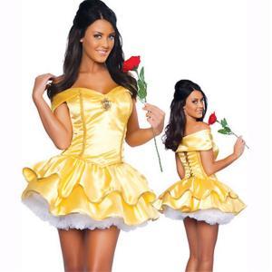 ハロウィン 衣装/白雪姫 コスチューム/白雪姫 風衣装/白雪姫 コスプレレディース/メイド服/ベル ドレス/ベル コスチューム/ベル風 衣装/ベル|sunshineshop