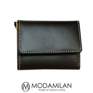 折財布 三つ折り財布 極小財布 コードバン 馬革 2020 子 鼠 ねずみ 令和2年|sunsmile2014