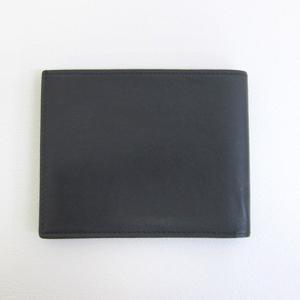 HERMES レザー 二つ折り 財布 カードケース マネークリップ メンズ  ブラック  エルメス 財布 F2-IF4857■ sunstep 02