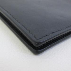 HERMES レザー 二つ折り 財布 カードケース マネークリップ メンズ  ブラック  エルメス 財布 F2-IF4857■ sunstep 05