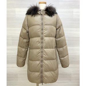 デュベティカ カッパ KAPPA ダウン ロング コート ジャケット 防寒 フード ファー レディース サイズ40 ベージュ系 冬 DUVETICA アウター IL8690-H■|sunstep