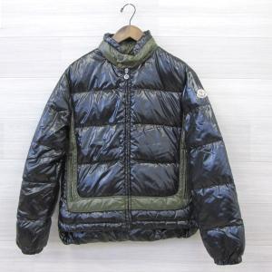 モンクレール ダウン ジャケット アウター バイカラー メンズ サイズ1 カーキ×ブラック 【冬】 MONCLER 衣料 IM5172-30■ sunstep