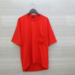 バレンシアガ オーバーサイズ Tシャツ 胸ポケ バックプリント18SS トップス 半袖 メンズ サイズXS レッド 夏 BALENCIAGA 衣料 DM6691■ sunstep