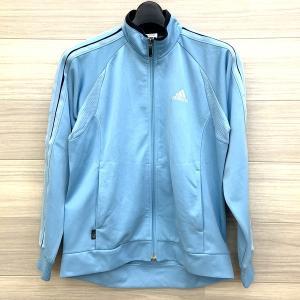 アディダス ジャージ ジャケット ブルゾン スポーツ 160cm キッズ レディース ライトブルー 水色 トレーニングウェア adidas N14701-1●|sunstep