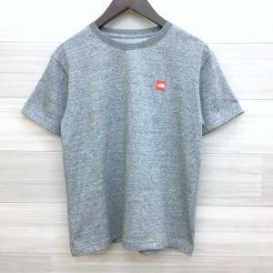 ノースフェイス スモールボックス ロゴ Tシャツ NT31955 ワンポイント 小さめ ネコポス可 Sサイズ グレー THE NORTH FACE カットソー DM1629■|sunstep