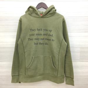 シュプリーム 16AW They Fuck You Up Hooded Sweatshirt パーカー スウェット プルオーバー ロゴ メンズ Sサイズ カーキ 春秋 Supreme トップス DM9868■|sunstep
