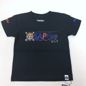 サプール ワンピース logo kids ロゴ キッズ Tシャツ カットソー 未使用 プリント ネコポス可 子供服 100cm SAPEur ONEPIECE トップス IK0189-6■|sunstep